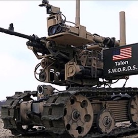 Foster-Miller Inc - Talon MTRS (man-transportable robotic system), the Swords. MTRS