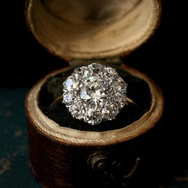 1900s Edwardian Diamond Cluster Ring,1.80ct