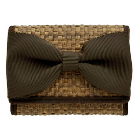 Capito - Rattan Wallet with a bow(BROWN)/極小財布