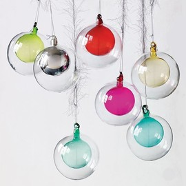 west elm - Double Glass Sphere Ornament