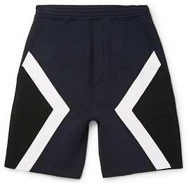 Neil Barrett - Panelled Bonded Jersey Shorts