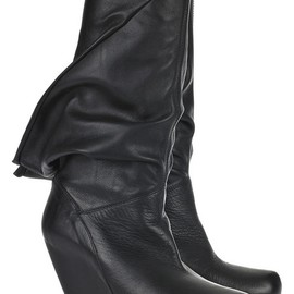 Rick Owens - Peaked-back wedge boots
