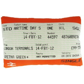 LONDON TRANSPORT MUSEUM - Valentine`s travelcard cushion