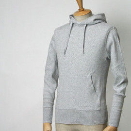 LETROYES - SWEAT PULLOVER PARKA cotton GRIS CLAIR
