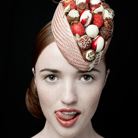 zaracarpenter - The Deliciously Decadent Chocolate Cherry Bombe 50s Style Hat 20% off