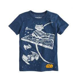 J.CREW - STAR WARS FOR CREWCUTS TEE IN GLOW-IN-THE-DARK STARSHIP