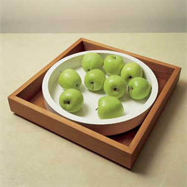 John Pawson - Wooden Tray / Porcelaine Plate