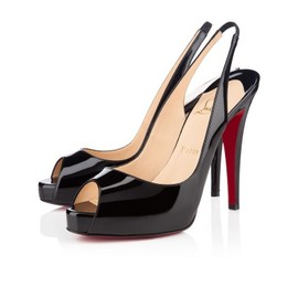 Christian Louboutin - No. Prive 120 Black Patent Leather