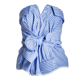 Alexis Mabille - Bleu and white striped bustier