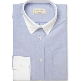 KITSUNE - Contrast-Collar Oxford Shirt