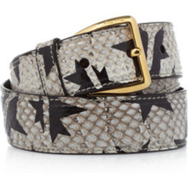 miu miu - Star-print watersnake waist belt