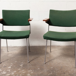 AMSTERDAM MODERN - PAIR OF GISPEN DINING OR OFFICE CHAIRS BY A.R. CORDEMEIER