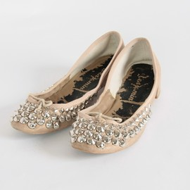 benjamintyo - repetto Studded Ballet Shoes Beige