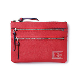 "HEAD PORTER - ""CAPRI"" TRAVEL POUCH RED"