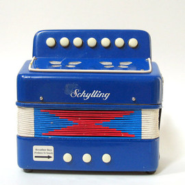 Schylling - Vintage Schylling Accordion Children's Toy Red White and Blue