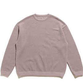 crepuscule - Moss Stitch L/S Sweat-Gray Beige