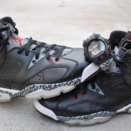 NIKE - air jordan 6 black cement Air Jordan 6 Black Cement Custom