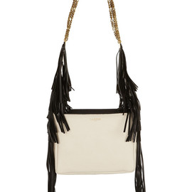 LANVIN - Triable fringed textured-leather shoulder bag