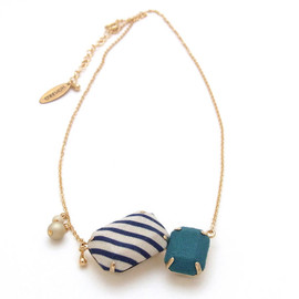 HOMAKO - Fabric  2 Jewel Necklace - H