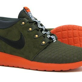 Nike - Roshe Run Sneakerboot - Dark Loden/Black-Anthracite