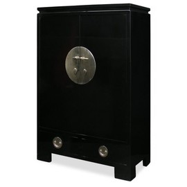 ChinaFurnitureOnline - Elmwood Ming Style TV Armoire - Black