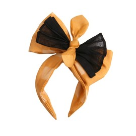 LE TOUR DE FORCE - MINNIE BOW Two-coloured headpiece