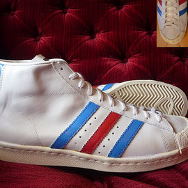 adidas - HALF SHELL(421 12) WHITE/BLUE/RED FRANCE