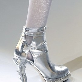 Chanel Couture - SS10 Silver Boots