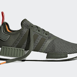 adidas - NMD R1- Olive/Red/Orange?