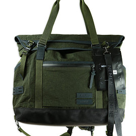 Nemen, masterpiece - Tote/Messenger - Military Green/Silver