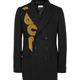 Dries Van Noten - Black Brodie Slim-Fit Appliquéd Wool-Blend Blazer