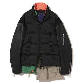 UNDERCOVER, kolor - 30th Anniversary  Leather sleeve down jacket  Edited by kolor UCZ9205