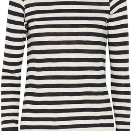 PROENZA SCHOULER - Striped slub-cotton top