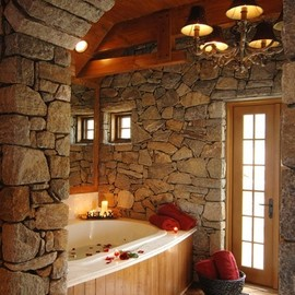 This bathroom looks magical!