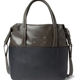 Maison Martin Margiela - Full-Grain and Smooth Leather Tote Bag