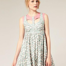 ASOS - Printed Summer Dress with cut out neck