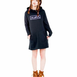X-girl - BOX LOGO SWEAT DRESS