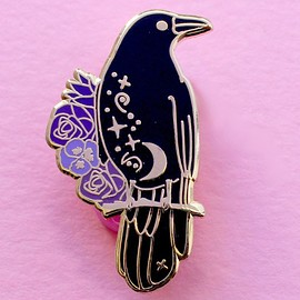 Glitter Punk - Crow Hard Enamel Pin