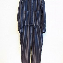 UNUSED - UNUSED FOR 1LDK STRIPE JUMPSUIT