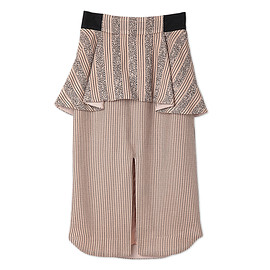 mame - Original Border Peplum Skirt