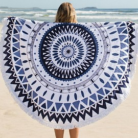 The Beach People - Majorelle Roundie Towel - The Beach People