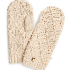 TORY BURCH - PEARL CABLE MITTEN