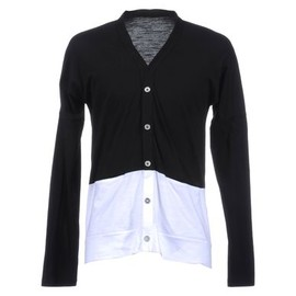 KRIS VAN ASSCHE - White and Navy Cardigan