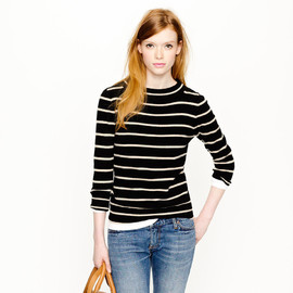 J.CREW - Collection Cashmere Bateau Sweater in Stripe