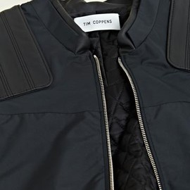 Tim Coppens - Leather Panel Bomber Jacket