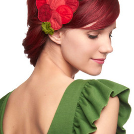 Bouquet or Nay Headband - Red, Green, Pink, Solid, Flower, Casual
