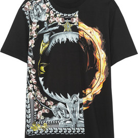 GIVENCHY - Black printed cotton-jersey T-shirt