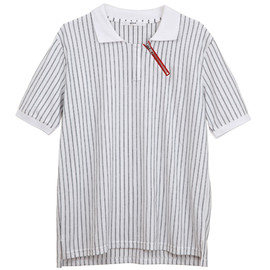 .efiLevol - Stripe Zipper Polo Shirt