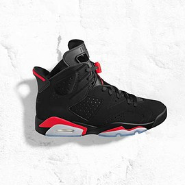 NIKE - AIR JORDAN 6 RETRO BLACK/INFRARED