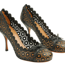 Azzedine Alaïa - lace cut high heel